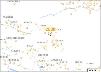 map of Izgori