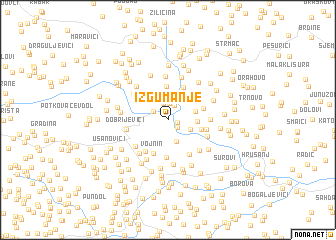 map of Izgumanje