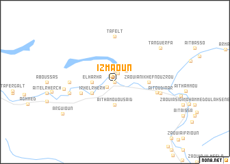 map of Izmaoun
