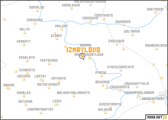 map of Izmaylovo