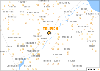 map of Izouriah