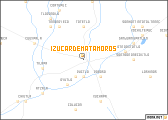 Izúcar de Matamoros (Mexico) map - nona.net