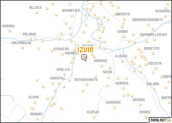 map of Izvir