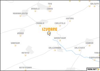 map of Izvoare