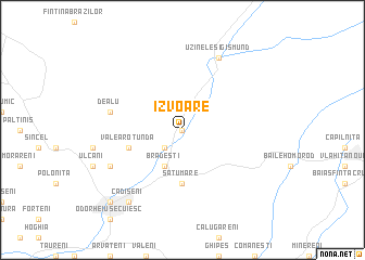 map of Izvoare