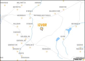map of Izvor
