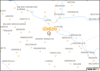 map of Izvozki