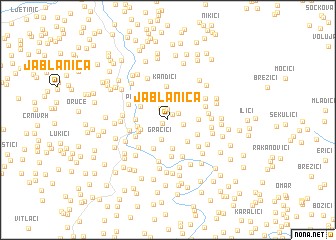 map of Jablanica
