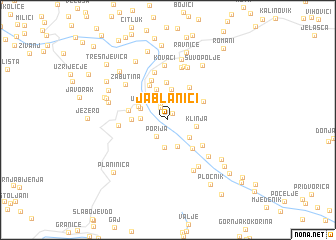 map of Jablanići