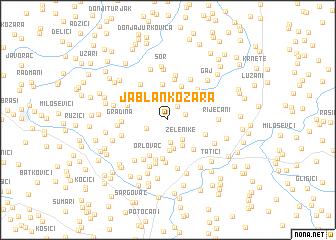 map of Jablan-Kozara