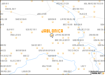 map of Jabłonica