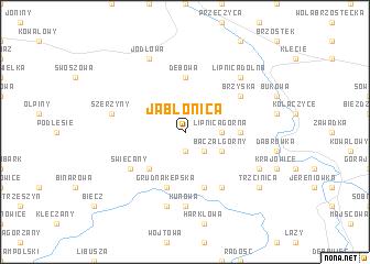 map of Jabłonica