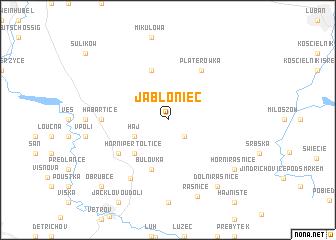 map of Jabłoniec