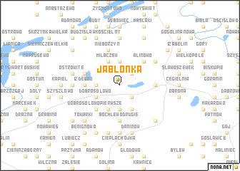 map of Jabłonka