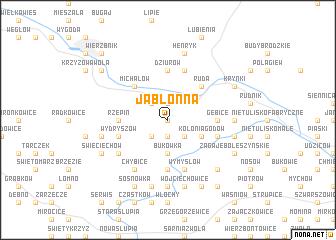 map of Jabłonna