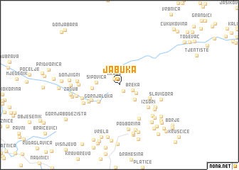 map of Jabuka