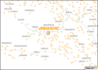 map of Jabukovac
