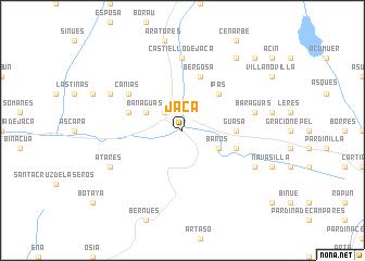 map of Jaca