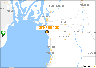 map of Jackson Oak