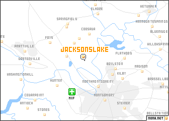 map of Jacksons Lake