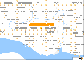map of Jagīmanrājpur