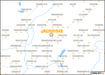 map of Jagminiškė