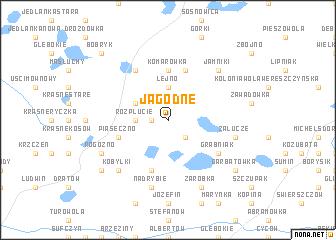 map of Jagodne