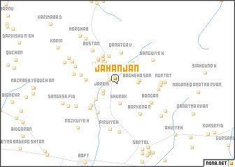 map of Jahānjān