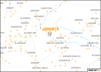 map of Jaḩḩayn