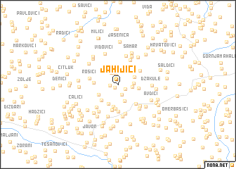map of Jahijići