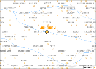 map of Jahnkow