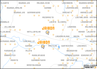 map of Jaibón