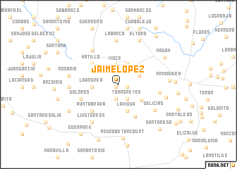 map of Jaime López