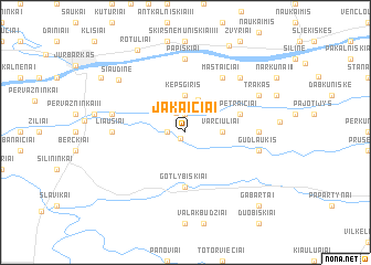map of Jakaičiai
