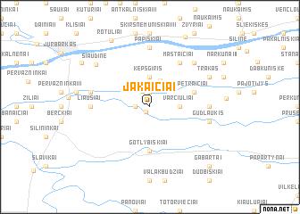 map of Jakaičiai
