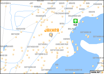 map of Jakhra