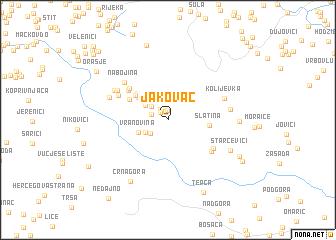 map of Jakovac