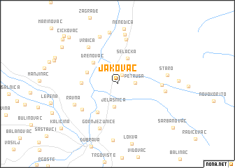 map of Jakovac