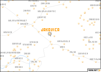 map of Jakovica