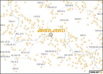 map of Jakovljevići