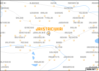 map of Jakštaičiukai