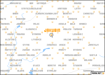 map of Jakubín