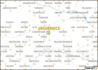 map of Jakubowice