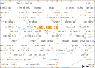 map of Jakubowice