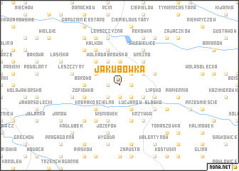 map of Jakubówka