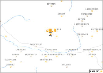 Jala (Mexico) map - nona.net
