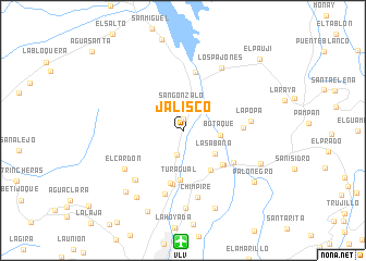 map of Jalisco