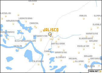 Jalisco (Mexico) map - nona.net on