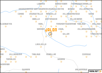 map of Jalón