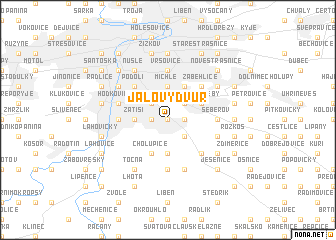 map of Jalový Dvŭr